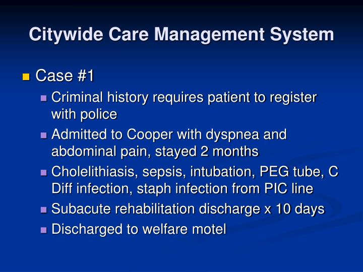 Citywide Care Management System