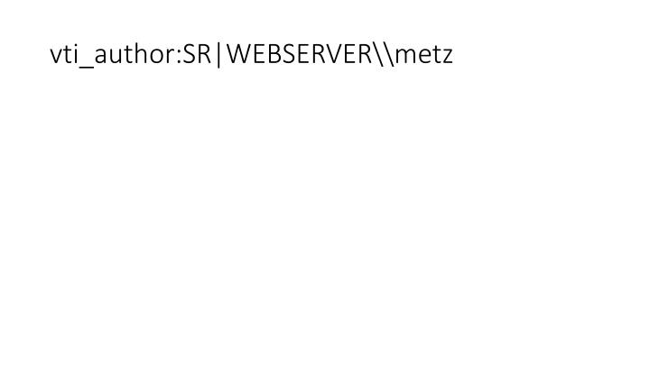 Vti author sr webserver metz