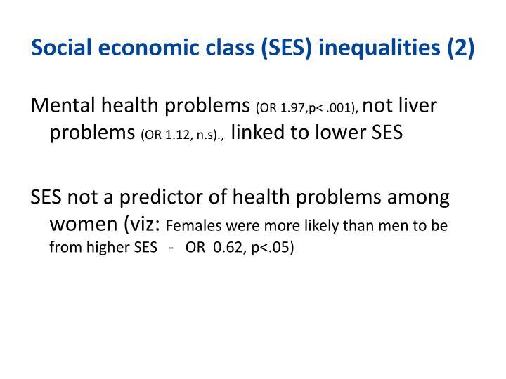 Social economic class (SES) inequalities (2)