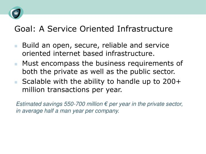 Goal: A Service Oriented Infrastructure