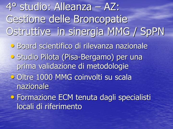4° studio: Alleanza – AZ: