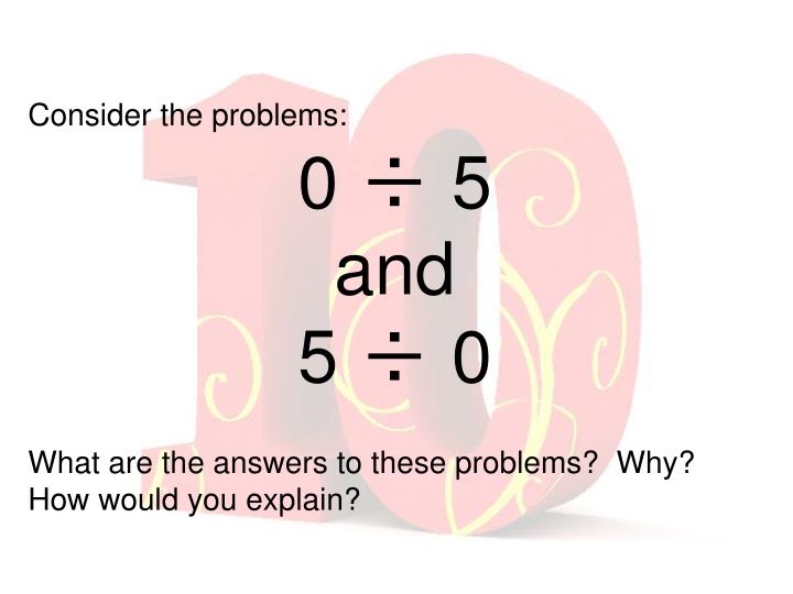 Consider the problems: