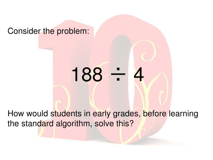 Consider the problem: