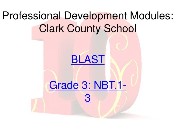 Professional Development Modules:  Clark County School