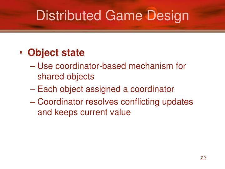 Distributed Game Design