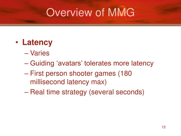 Overview of MMG