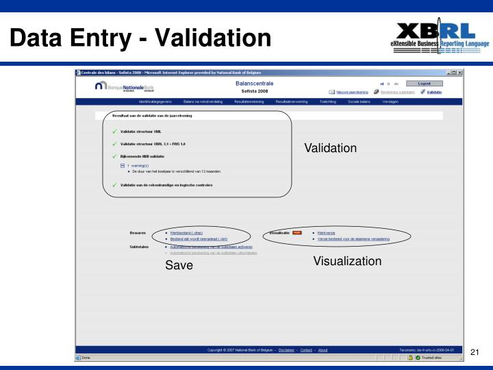 Data Entry - Validation
