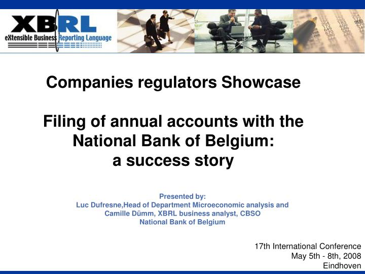 Companies regulators Showcase