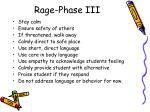 rage phase iii