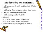 students by the numbers