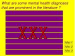 what are some mental health diagnoses that are prominent in the literature