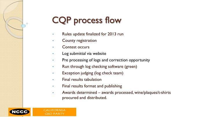 CQP process flow