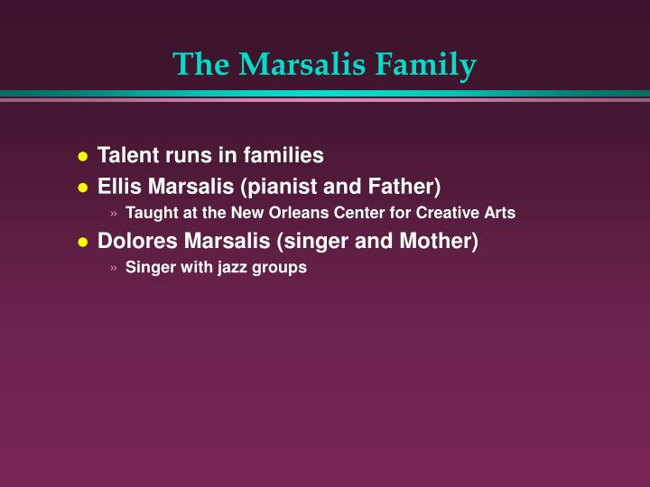 The Marsalis Family