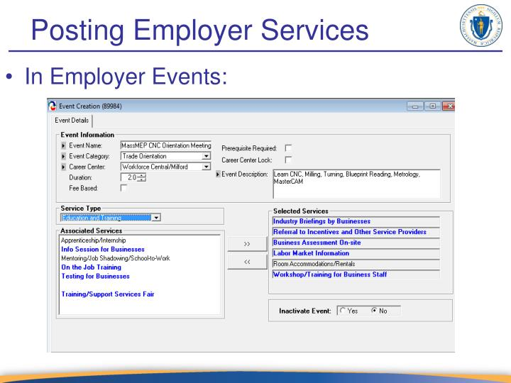 Posting Employer Services
