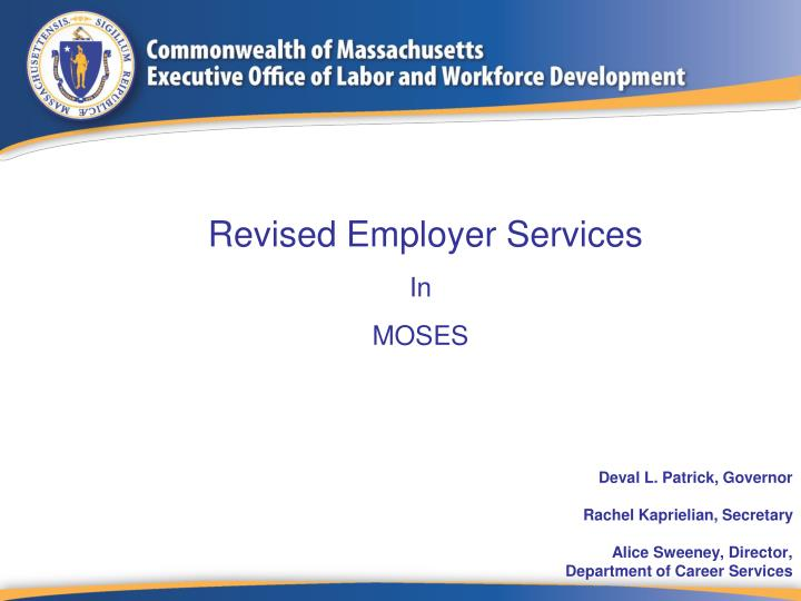 Revised Employer Services