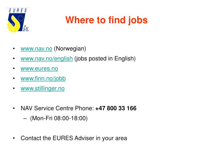 Where to find jobs