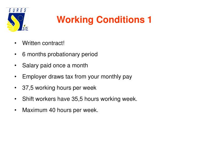 Working Conditions 1