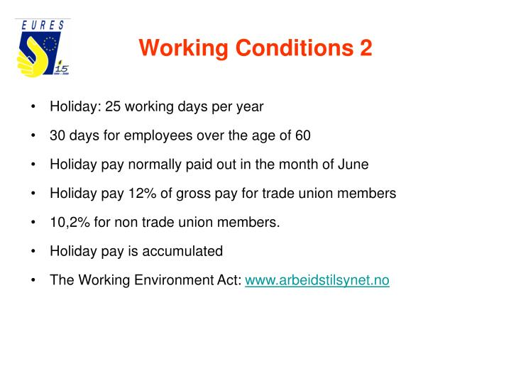 Working Conditions 2