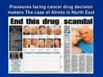 pressures facing cancer drug decision makers the case of alimta in north east