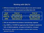 working with qalys