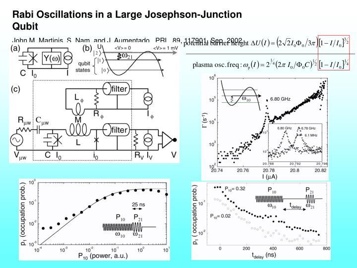 Rabi Oscillations in a Large Josephson-Junction Qubit