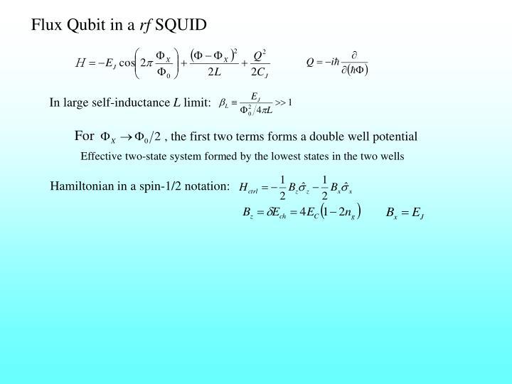 Flux Qubit in a