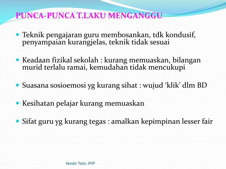 PUNCA-PUNCA T.LAKU MENGANGGU
