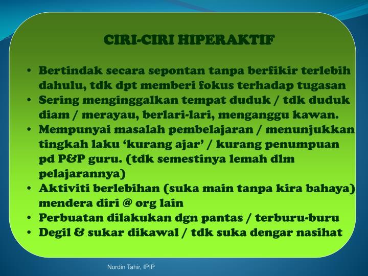 CIRI-CIRI HIPERAKTIF