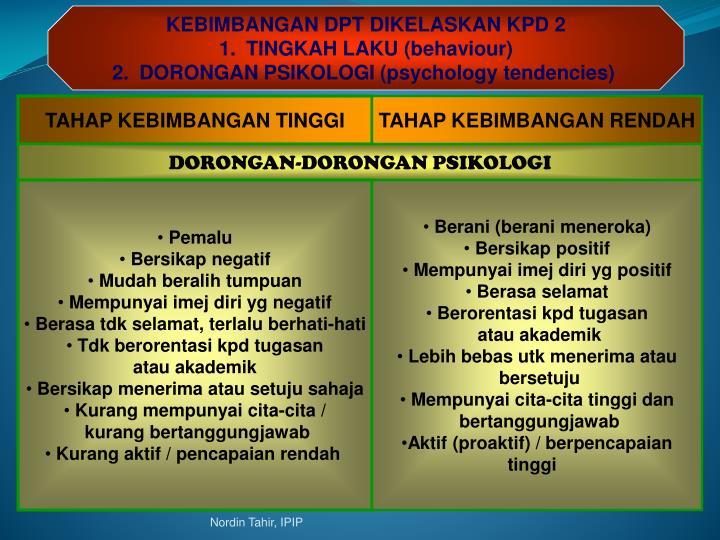 KEBIMBANGAN DPT DIKELASKAN KPD 2