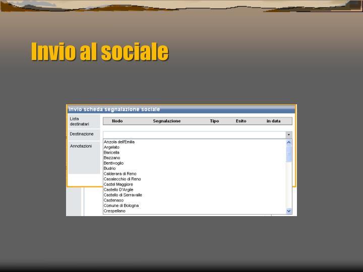 Invio al sociale