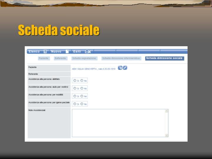 Scheda sociale