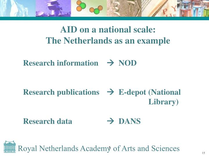 AID on a national scale: