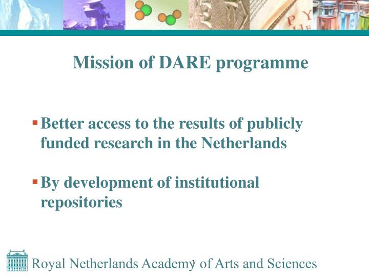 Mission of DARE programme