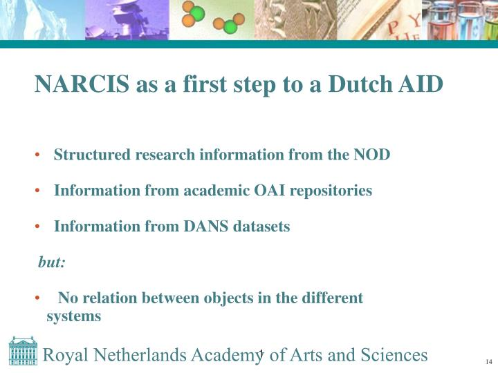 NARCIS as a first step to a Dutch AID