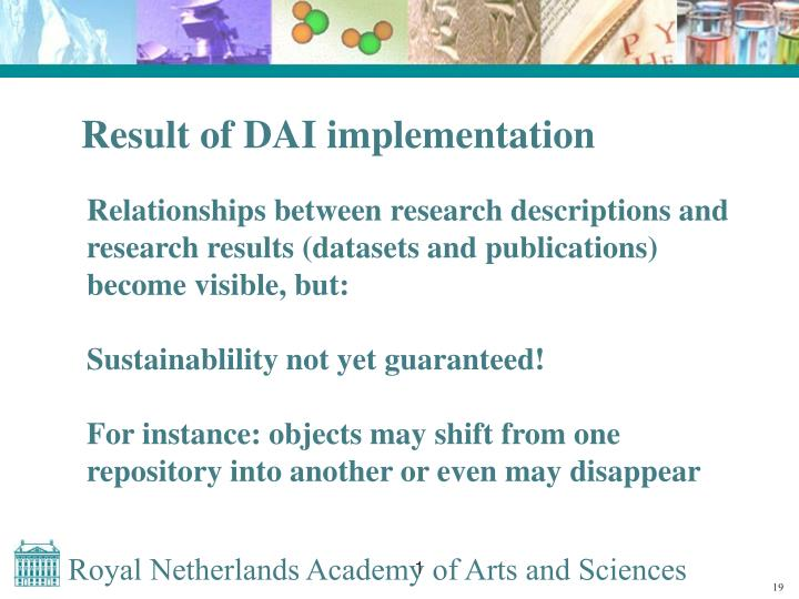 Result of DAI implementation