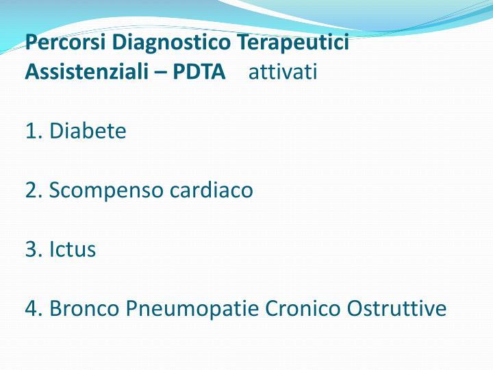 Percorsi Diagnostico Terapeutici Assistenziali – PDTA