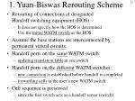 1 yuan biswas rerouting scheme