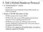 5 toh s hybrid handover protocol