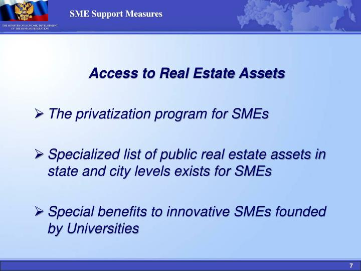SME Support Measures