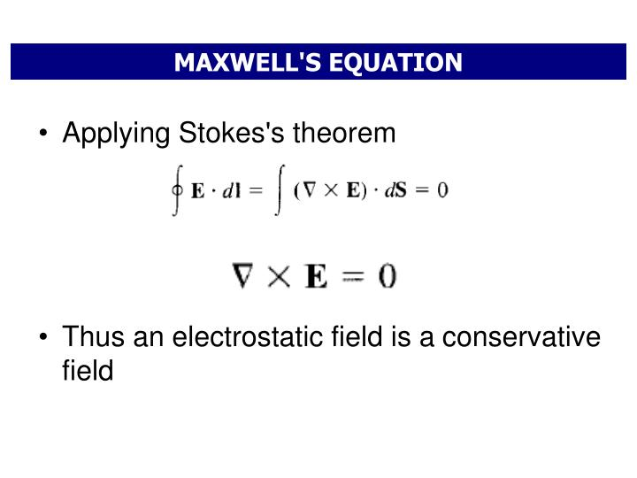 MAXWELL'S EQUATION