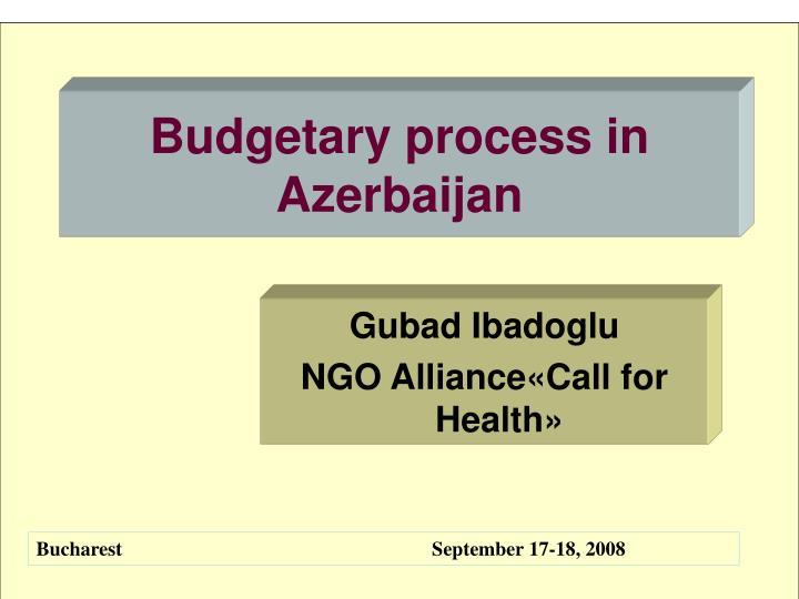 Budgetary process in Azerbaijan