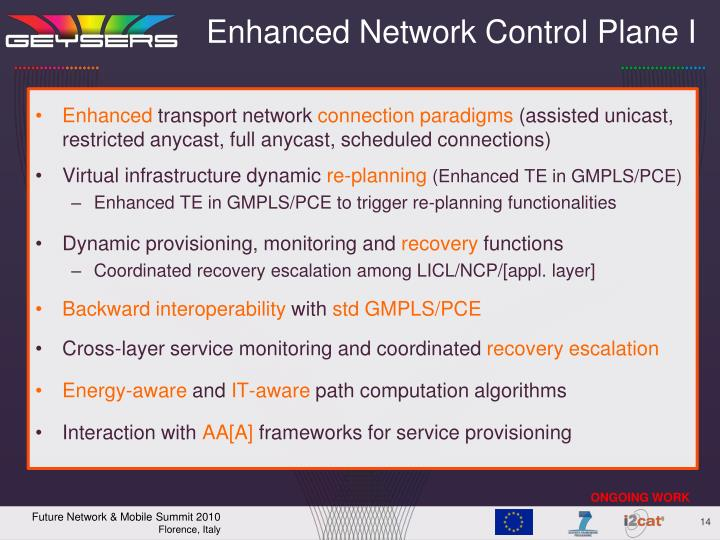 Enhanced Network Control Plane I