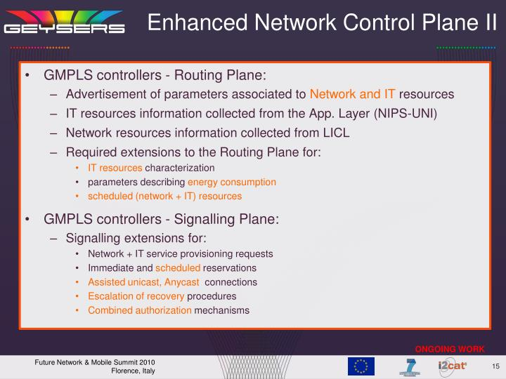 Enhanced Network Control Plane II