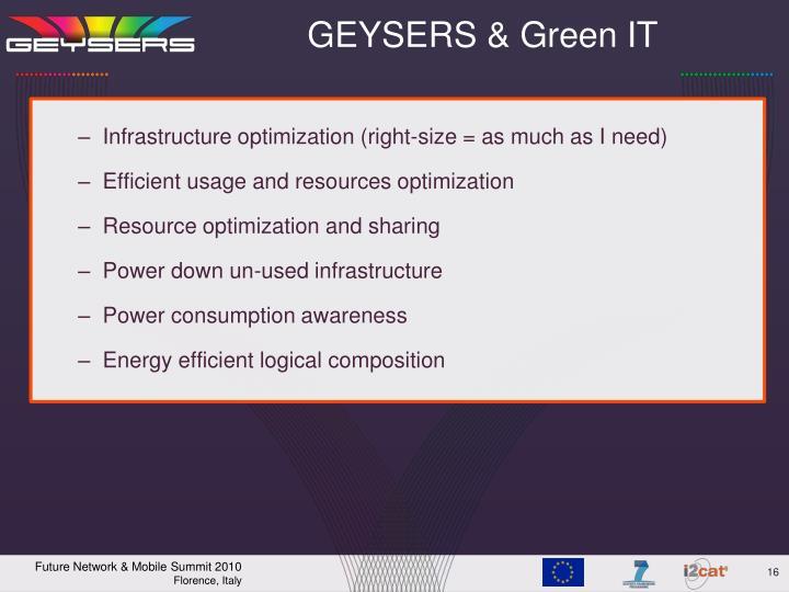 GEYSERS & Green IT