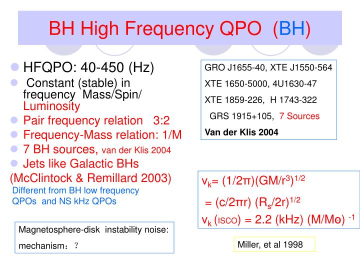 BH High Frequency QPO  (
