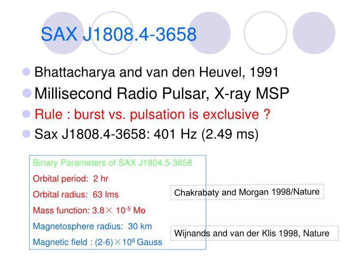 SAX J1808.4-3658