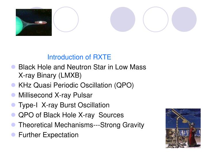 Introduction of RXTE