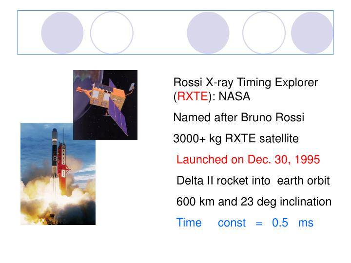 Rossi X-ray Timing Explorer (