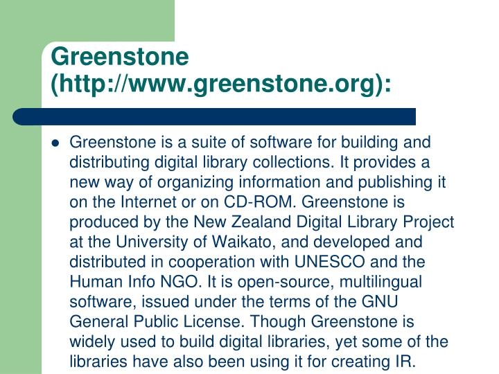 Greenstone (http://www.greenstone.org):