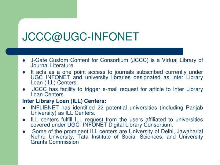 JCCC@UGC-INFONET